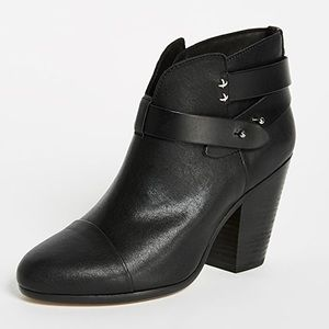 🌈 SOLD 🌈 RAG & BONE harrow black leather booties